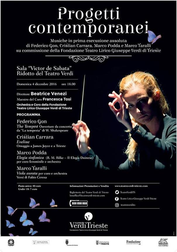 Eveline, for Orchestra, Teatro Lirico ,Trieste, 4th of December, 2016, h. 6.00
