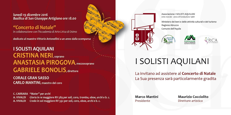 Mater, for string orchestra, Basilica San Giuseppe artigiano, L'Aquila, 19th of December, Sunday, 6.00 pm